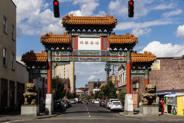 Ворота в китайский квартал Портленда