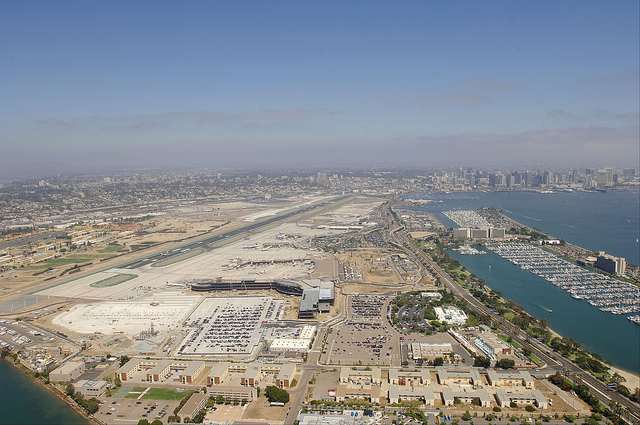 Аэропорт Сан-Диего. Вид сверху