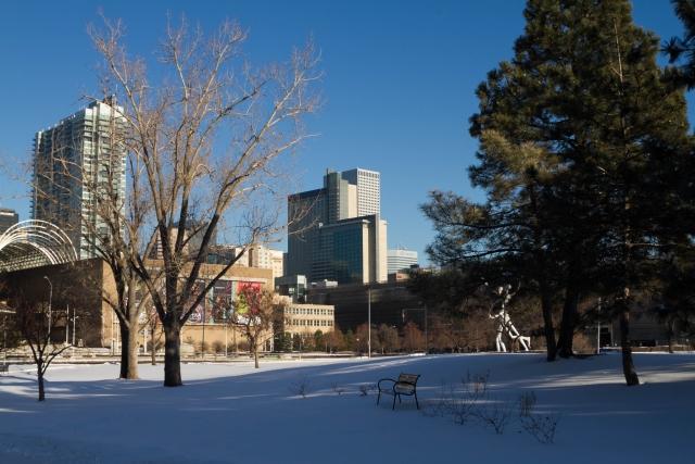 Денвер Достопримечательности. Возле Denver Center for Performing Arts