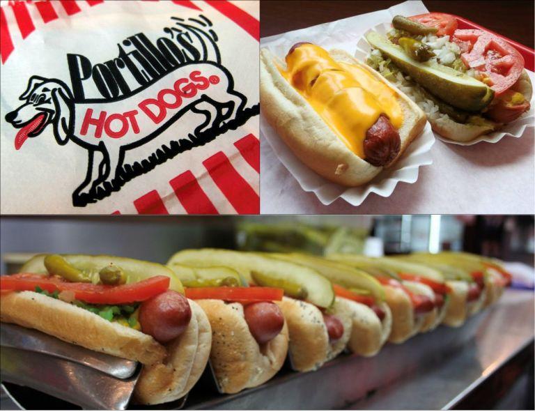 Chicago Portillos Hot Dog Чикаго Достопримечательности Хот Дог Портиллос