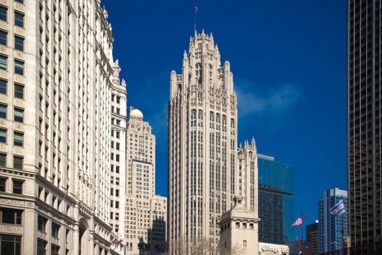 Чикаго Достопримечательности Небоскребы Chicago Tribune