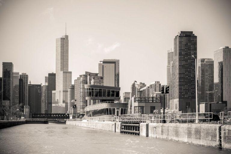 Чикаго Озеро Мичиган и городские высотки