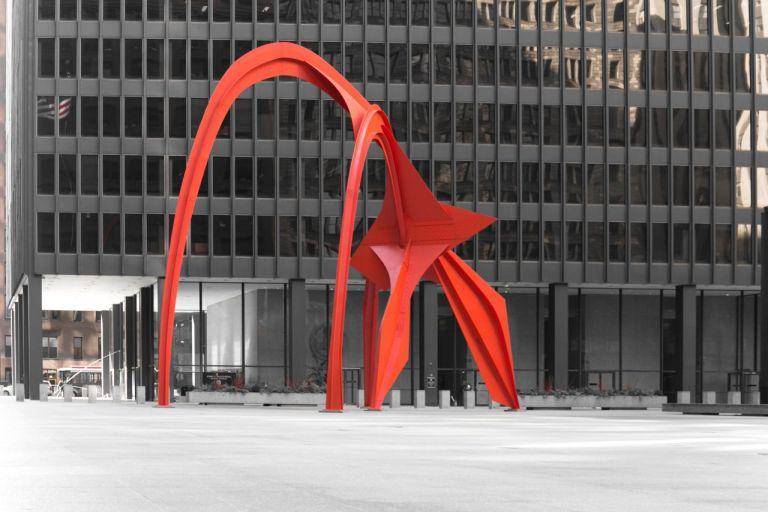 Чикаго Достопримечательности Скульптура Фламинго