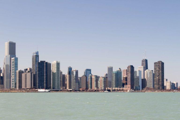 Чикаго. Вид на город с озера Мичиган