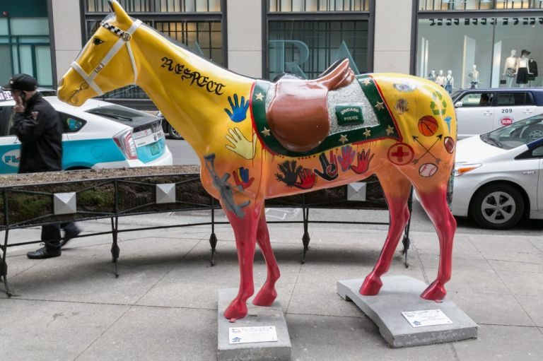 Чикаго. Скульптуры на улицах города