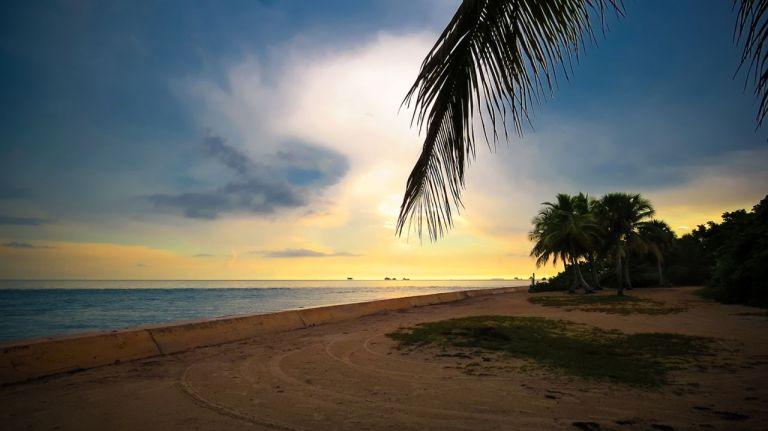 Майами. Закат на Ки Бискейн