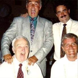 Sevenau brothers w/dad Lou Sevenau standing: Bob and Mike seated: Lou and Steve