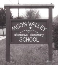 Moon Valley School sign crop