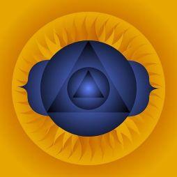 Third Eye Chakra, Mandala Healing Art by Sarah Niebank