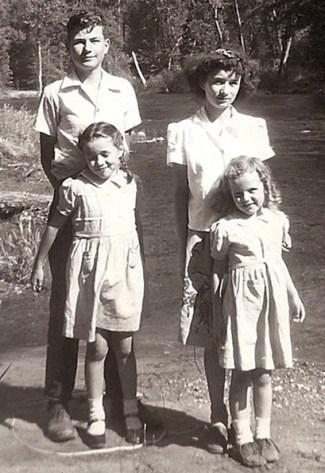 Larry, Carleen, Betty, Claudia, 1948
