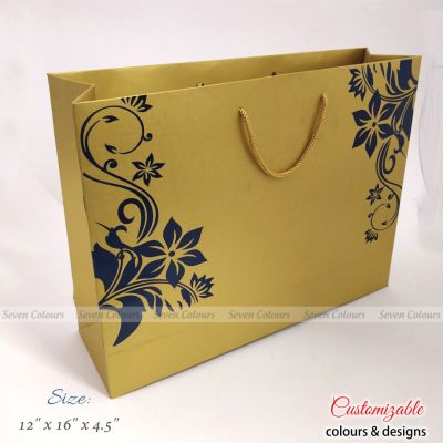 Golden floral pre-wedding gift bags
