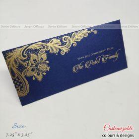 Blue floral design money envelopes for wedding gift