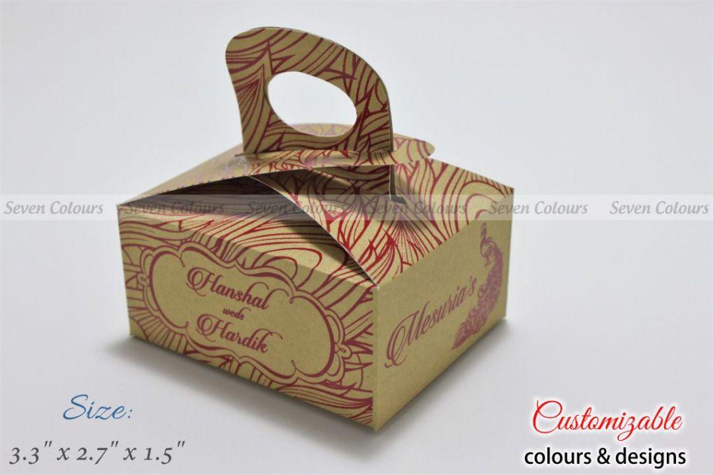 rich cake box in peacock theme