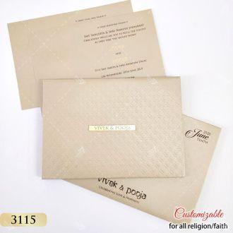pastel smooth finish golden grey card