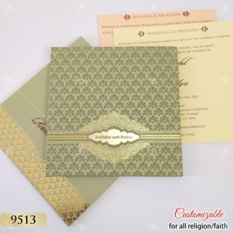 green gold hardcover card