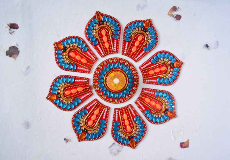 arcylic rangoli in big sizes for wedding decoration
