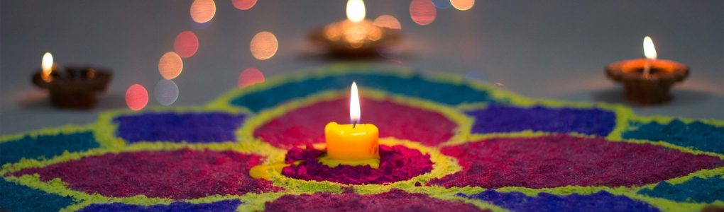 Wedding Decoration Rangoli & Candles