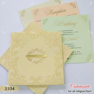 cream pastel wedding invitation at best price