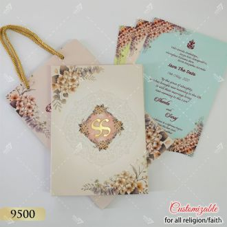 Bag style wedding popular in india - floral theme