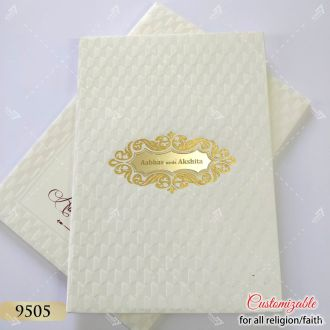 hardcover indian wedding card designer series