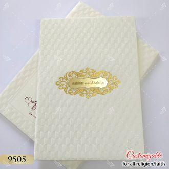 hardcover indian wedding card designer series
