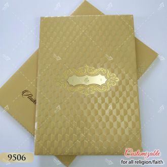 golden hardcover invitation with ganesh tamil wedding