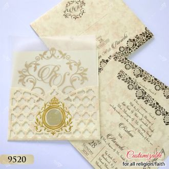 cream affordable lowcost lasercut card