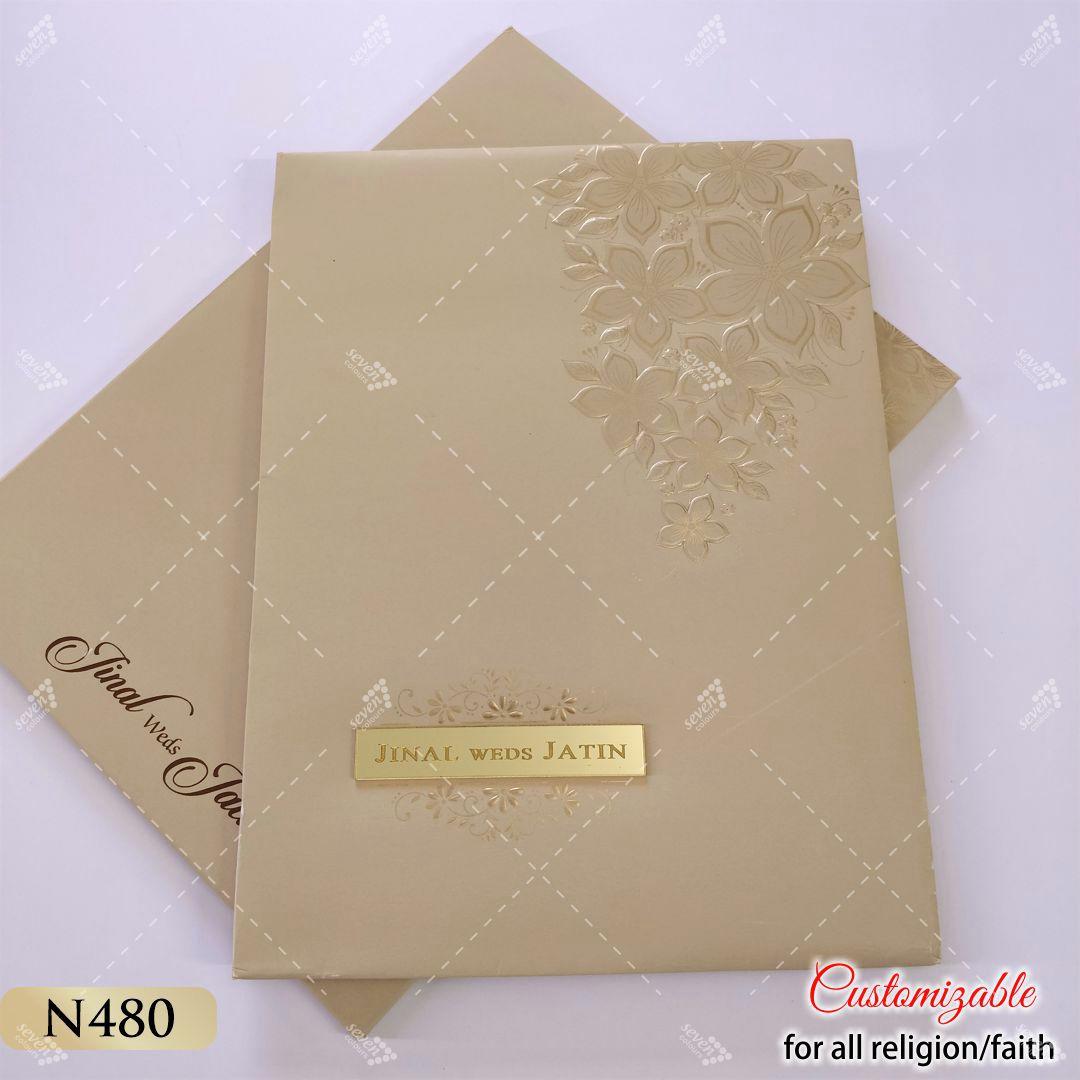 hardcover golden card