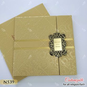 door style hardcover wedding card