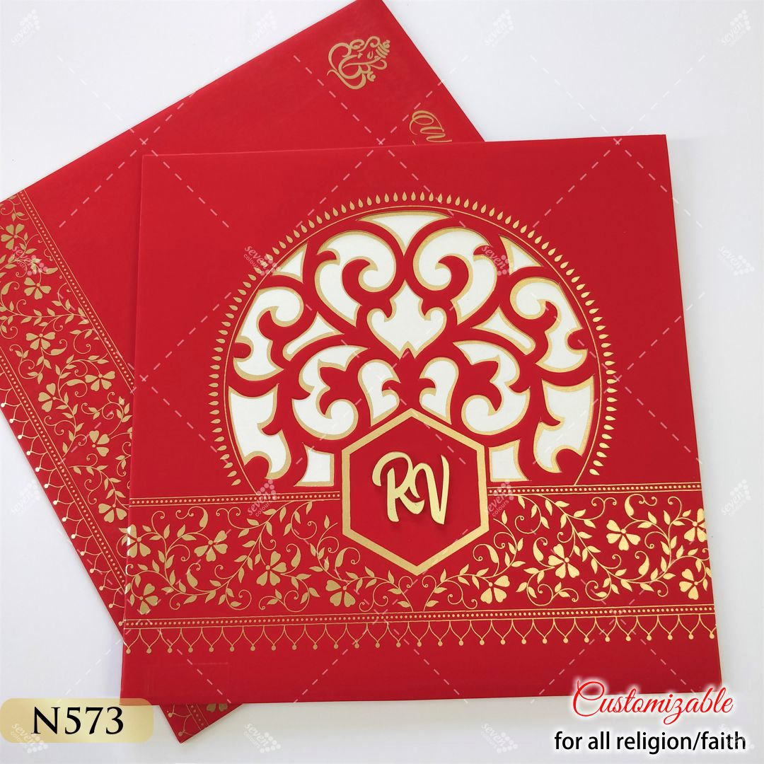 red and gold theme tamil wedding cards exported worldwide