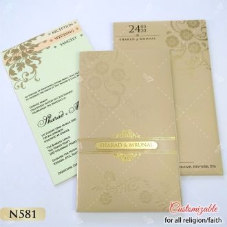 smooth finish gold card for tamil weddings
