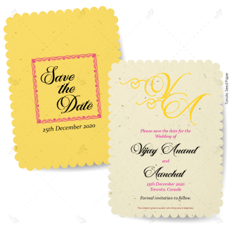 seed paper card for the save the date of wedding
