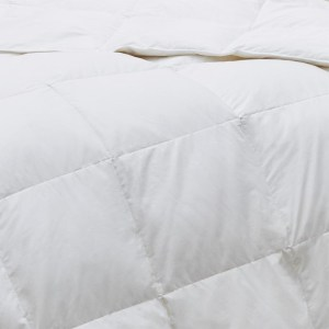 down comforter close-up with a fold down