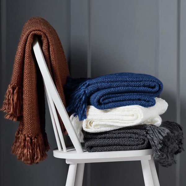 Soft Knit Throw Stacked