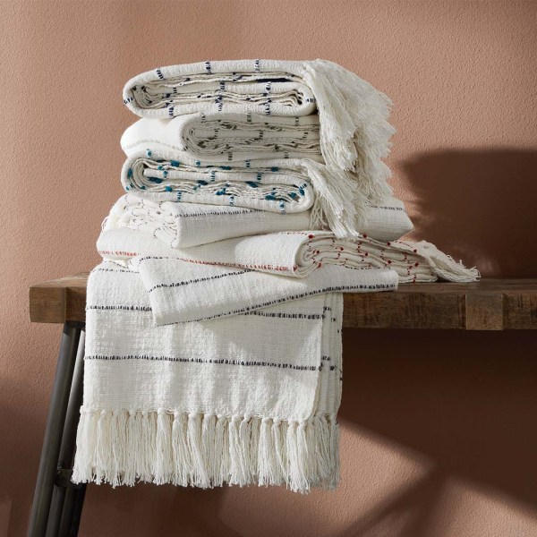 woven stripe stacked