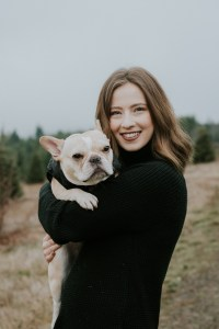 Meet the Sevenfold Team: Team Member, Becca, pictured with her French Bulldog, Maggie.