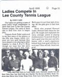 Seven Lakes article about Women's Silver Team 1994-95