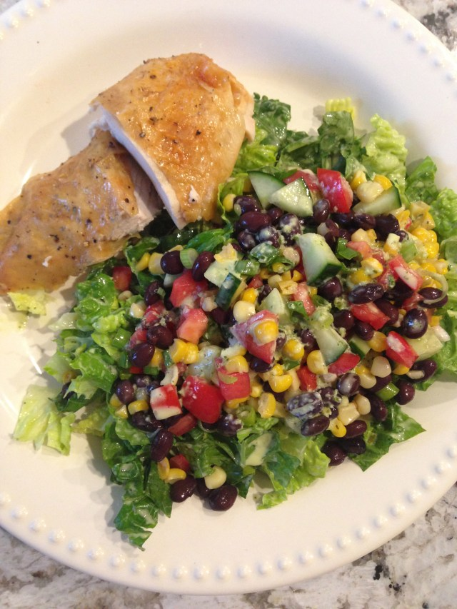 Mexican Ranch Dressing over Chopped Salad