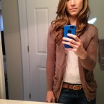 Fall Fashion: Cardigan + T-Shirt + Belt