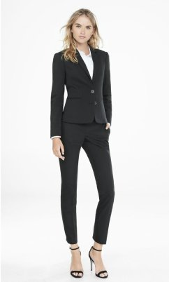 slim black women's blazer