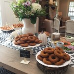 pumpkin spice donuts for baby shower