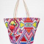 Asos summer beach bag with pom pom