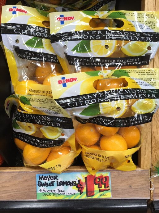meyer lemons from Trader Joe's