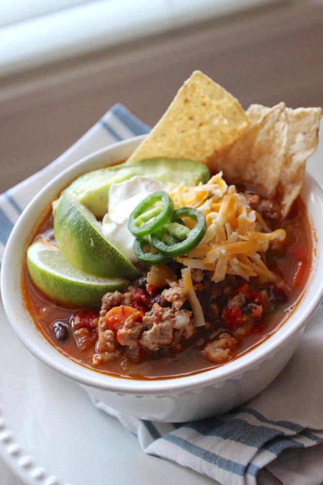 turkey taco soup recipe