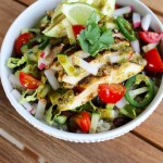 Cauliflower Rice Burrito Bowl with Chili Lime Cilantro Grilled Chicken
