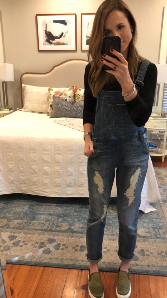 Friday Favorites October 2017; overalls outfit