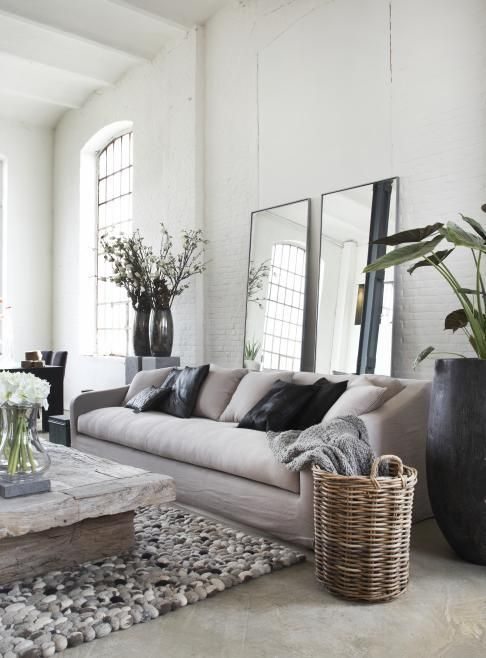 Big mirrors for the illusion of a bigger home