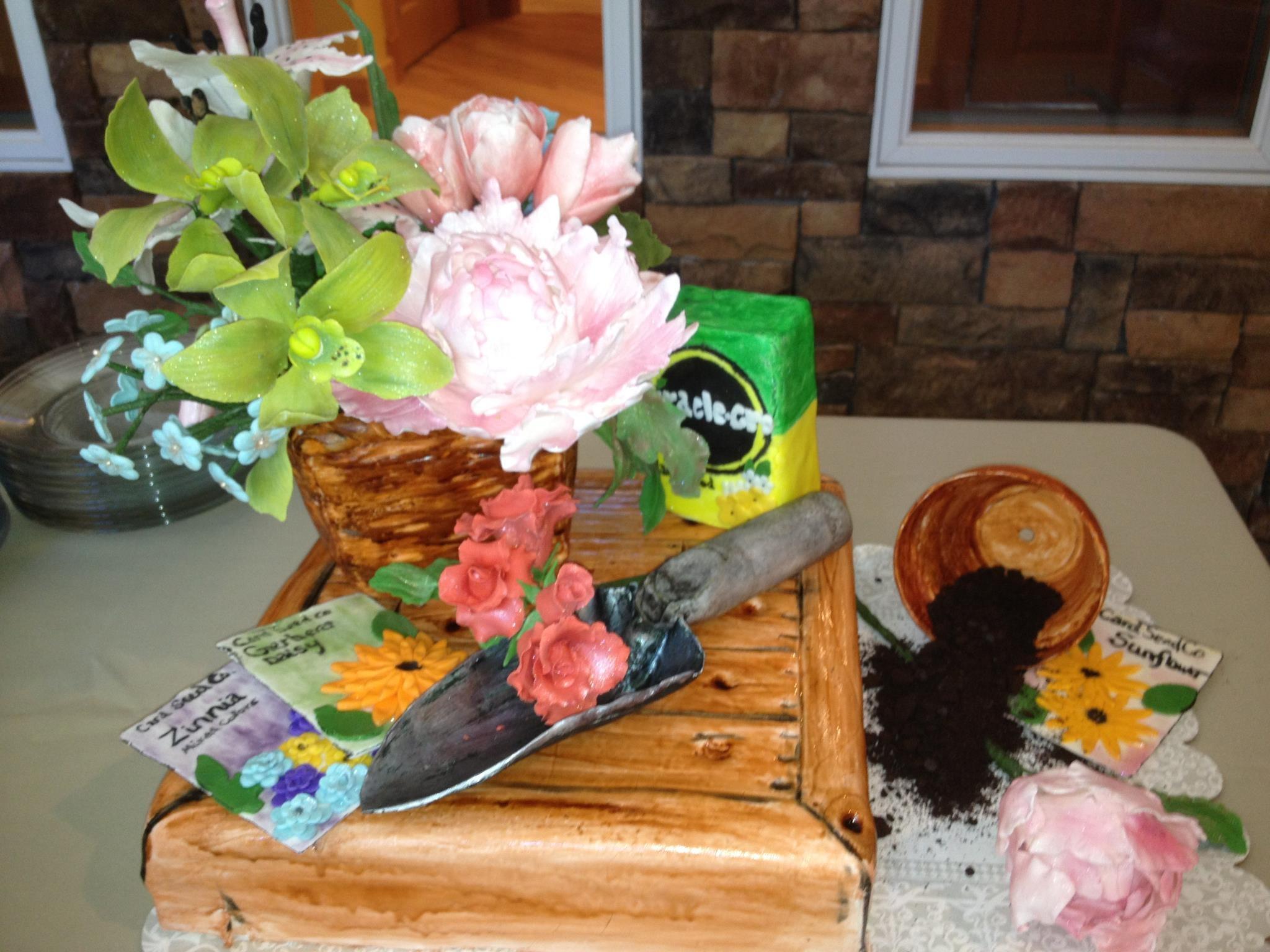 Gum paste flowers for garden club.