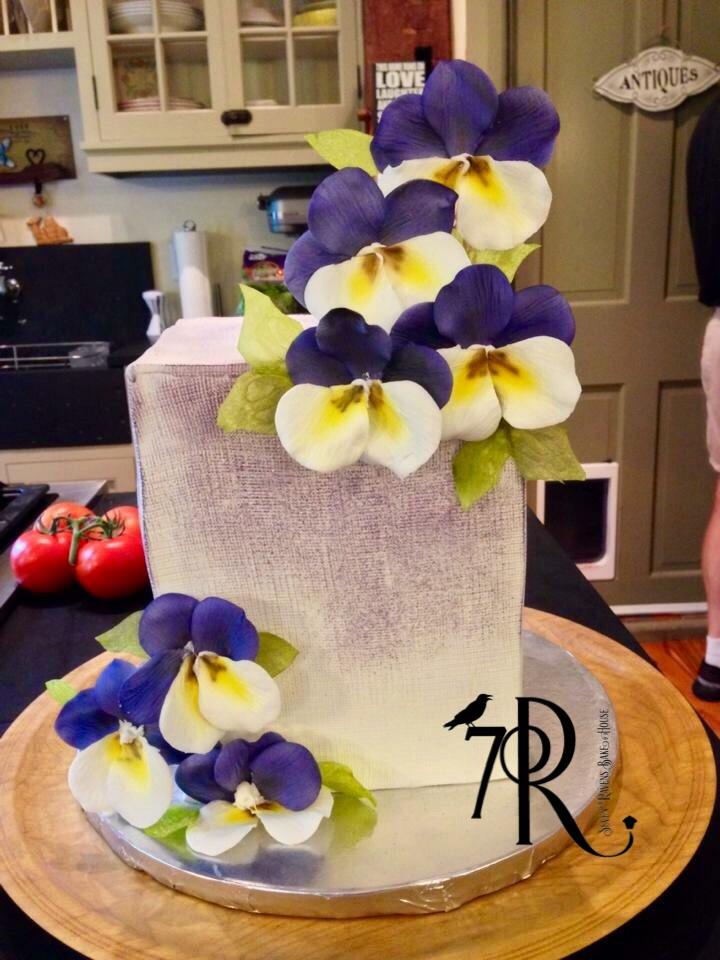 Double Stack Gumpaste violet cake