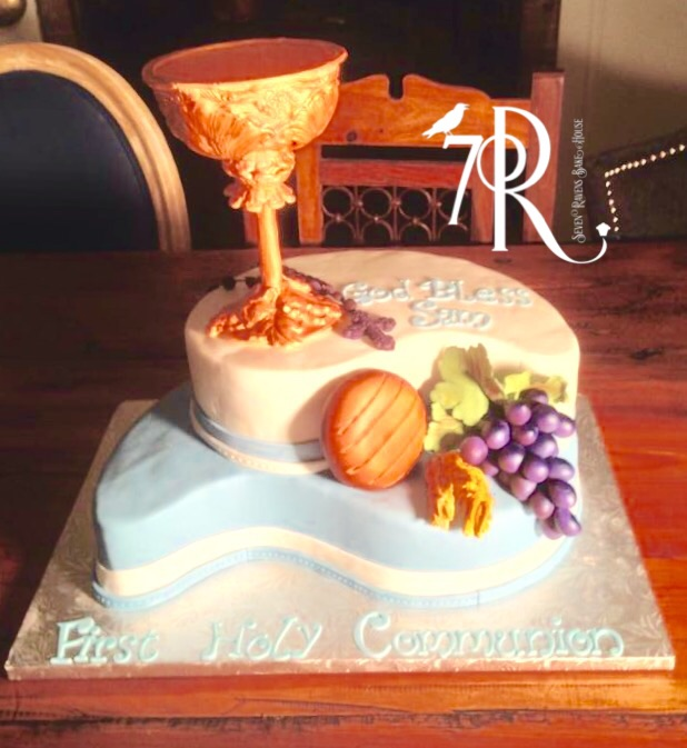Communion Cake with gum paste chalice